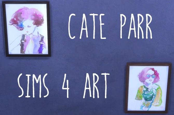 Cate Parr's Watercolor Portraits at ThatMalorieGirl image 11111 670x446 Sims 4 Updates