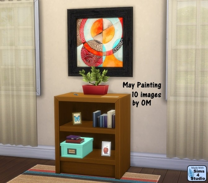 Sims 4 May painting 10 images by OM at Sims 4 Studio