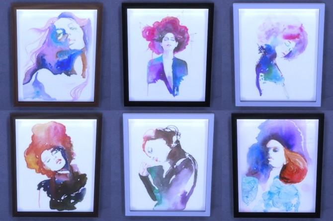 Cate Parr's Watercolor Portraits at ThatMalorieGirl image 1128 670x446 Sims 4 Updates