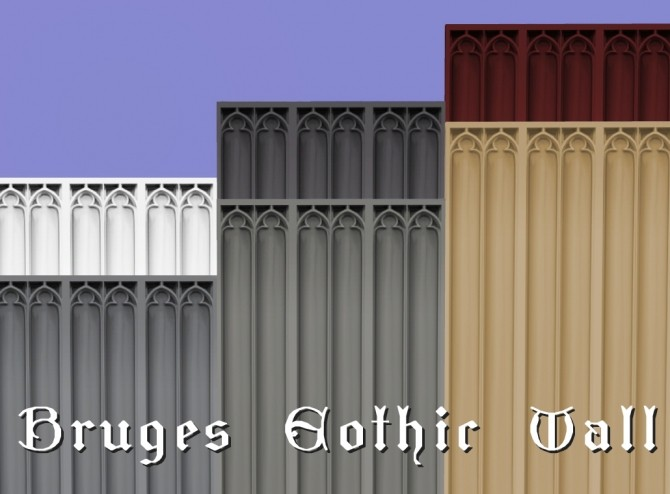 Sims 4 Bruges Gothic walls by Velouriah at Mod The Sims