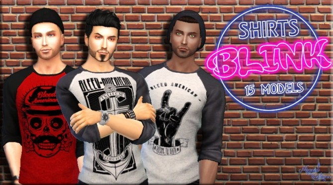 Sims 4 Shirts Blink at Victor Miguel