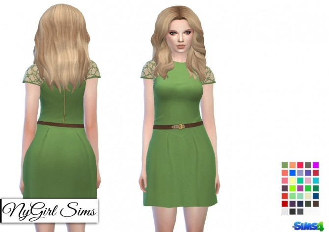Sims 4 Lace and Belt Racerback Dress at NyGirl Sims