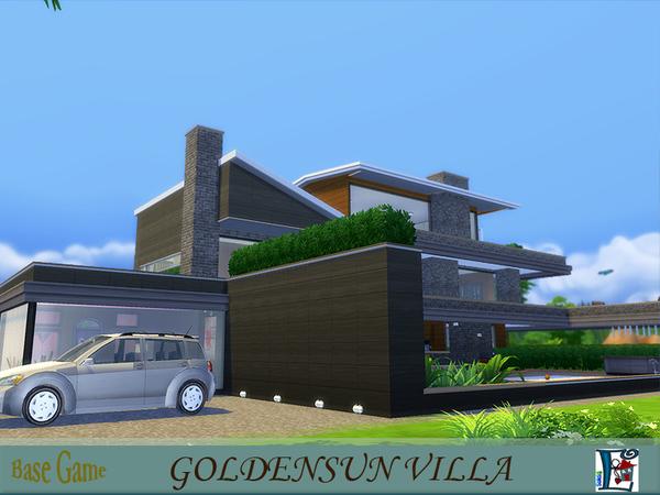 Sims 4 Goldensun villa by evi at TSR