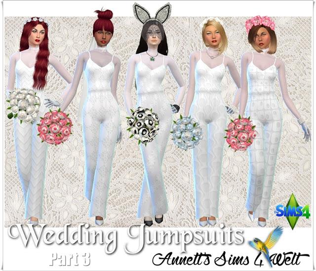 Wedding Jumpsuit Part 3 at Annett's Sims 4 Welt image 1176 Sims 4 Updates