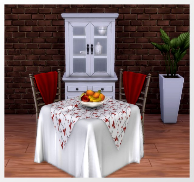 Sims 4 Tablecloths by Oldbox at All 4 Sims