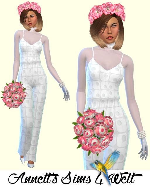 Wedding Jumpsuit Part 3 at Annett's Sims 4 Welt image 1205 Sims 4 Updates
