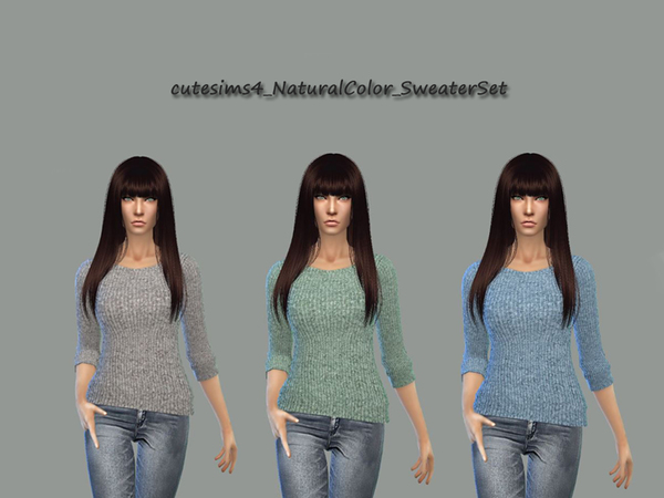 Sims 4 Natural Colors Sweater by sweetsims4 at TSR