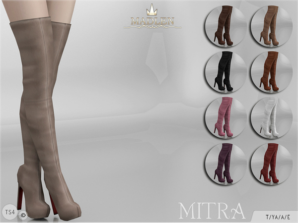 Sims 4 Madlen Mitra Boots by MJ95 at TSR