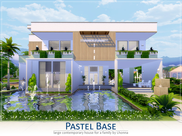Pastel Base house by Lhonna at TSR image 1220 Sims 4 Updates