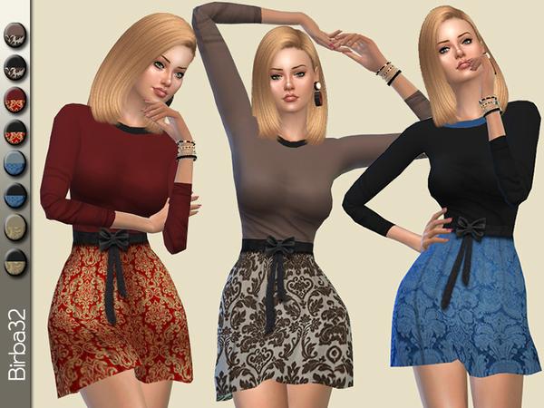 Sims 4 Damasco dress by Birba32 at TSR