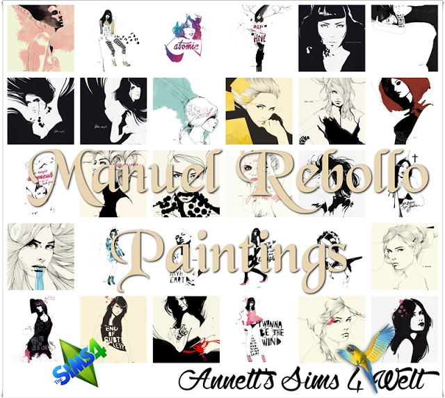 Manuel Rebollo Paintings at Annett's Sims 4 Welt image 1252 Sims 4 Updates