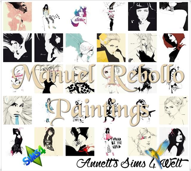 Sims 4 Manuel Rebollo Paintings at Annett's Sims 4 Welt