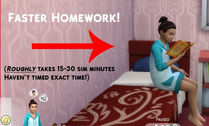 Sims 4 Faster Homework 2.0 by Simstopics at SimsWorkshop
