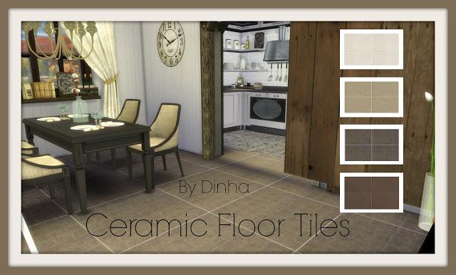 Ceramic Floor Tiles (Brown) at Dinha Gamer image 1276 Sims 4 Updates