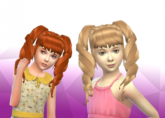 and sassy hair styles twist pigtails for at my stuff 187 sims 4 updates 1292