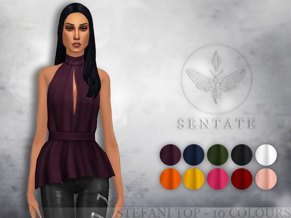 Sims 4 Stefani Top by Sentate at TSR
