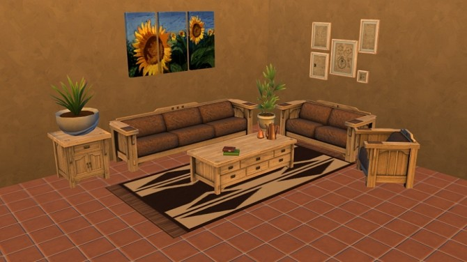 Mission Style Living Room conversion by Zahkriisos at Mod The Sims image 130 670x376 Sims 4 Updates