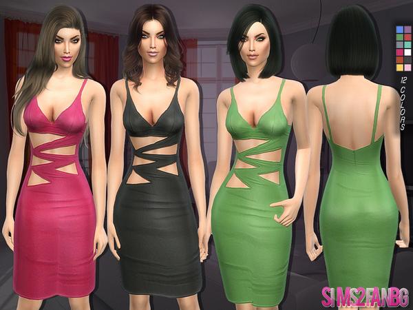 Sims 4 127 Pencil dress by sims2fanbg at TSR