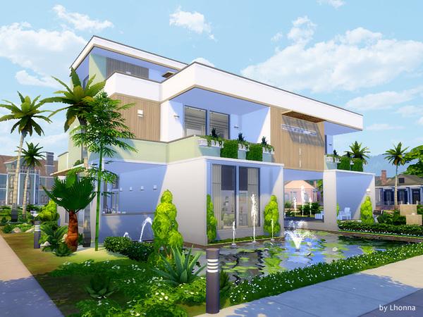 Sims 4 Pastel Base house by Lhonna at TSR