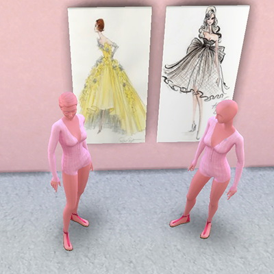 Sims 4 Fashion House paintings at Trudie55