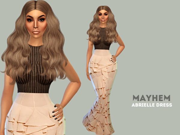 Sims 4 Abrielle Dress by NataliMayhem at TSR