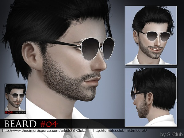 Beard 04 by S Club WM at TSR image 1380 Sims 4 Updates