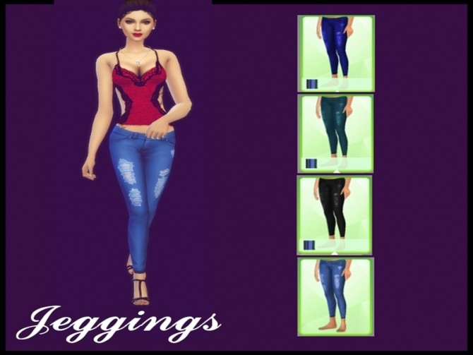 Sims 4 Jeans/Jeggings by Naddiswelt at TSR