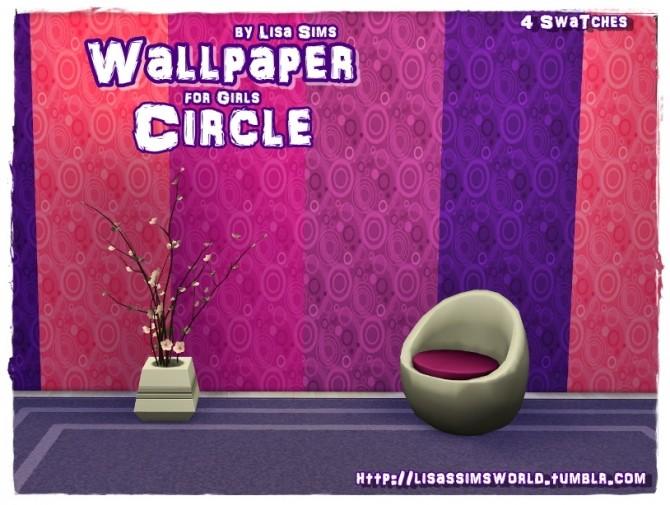 Sims 4 WALLPAPER CIRCLE for GIRLS at Lisa Sims