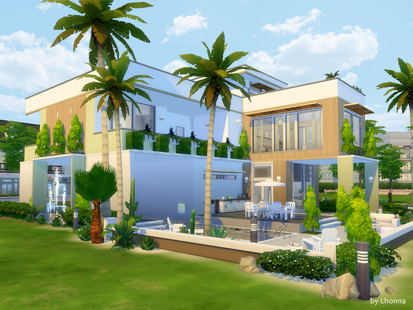 Pastel Base house by Lhonna at TSR image 1420 Sims 4 Updates