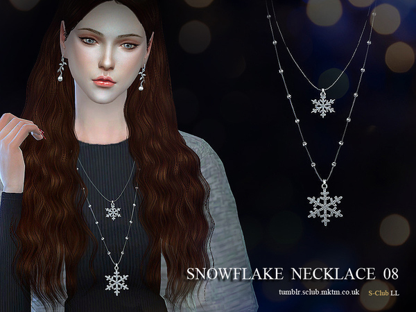 Necklace N08 by S Club LL at TSR image 1427 Sims 4 Updates