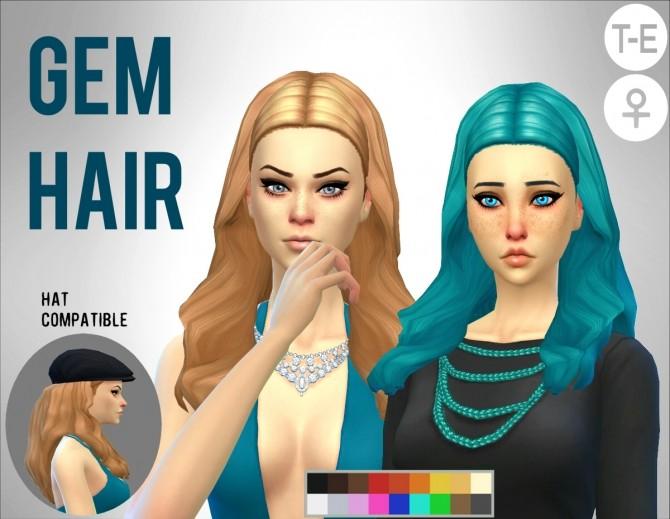 Gem Hair at Simduction image 1445 670x519 Sims 4 Updates