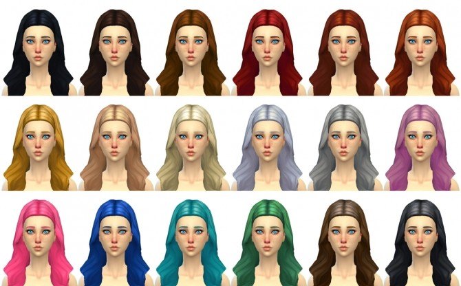 Gem Hair at Simduction image 1454 670x416 Sims 4 Updates