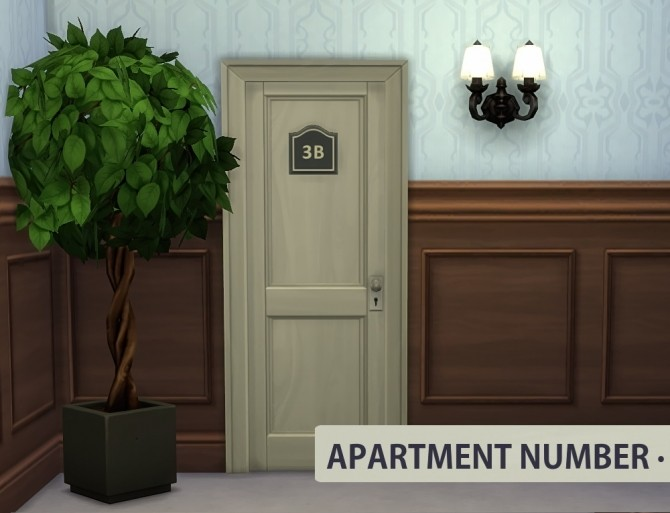 Apartment Door Number at Sims in Spring » Sims 4 Updates