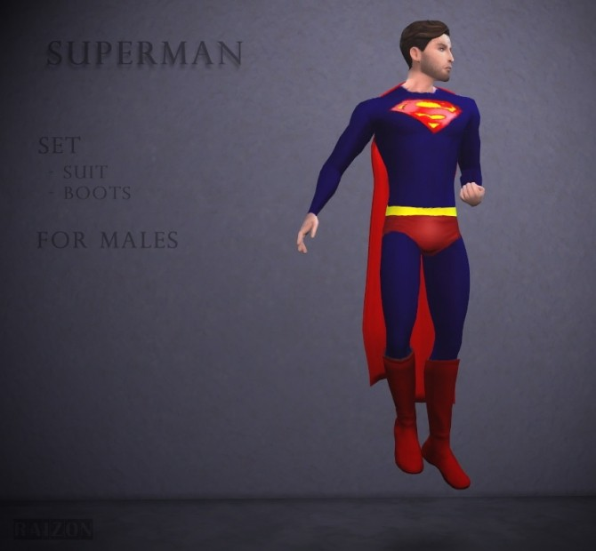 Superman outfit and boots at Raizon image 1471 670x620 Sims 4 Updates