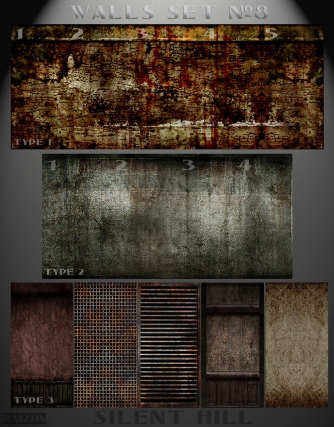 Silent Hill walls at Raizon image 1481 670x857 Sims 4 Updates