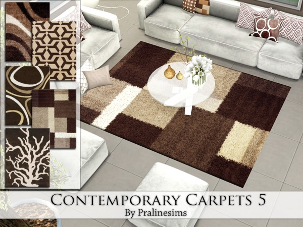 Contemporary Carpets 5 By Pralinesims At Tsr 187 Sims 4 Updates