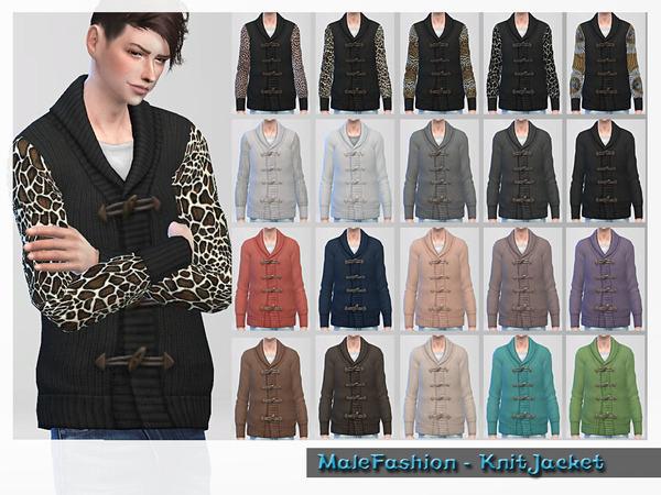 Sims 4 Male Fashion Knit Sweater by ShojoAngel at TSR