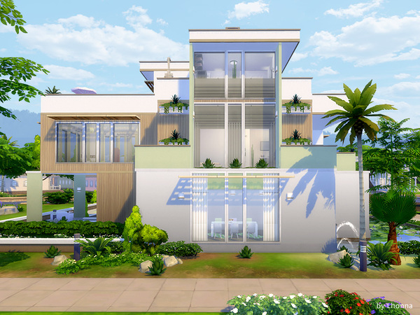 Pastel Base house by Lhonna at TSR image 1520 Sims 4 Updates