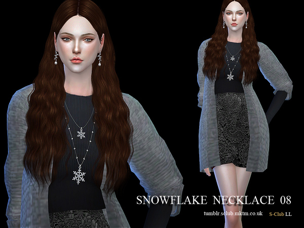 Necklace N08 by S Club LL at TSR image 1526 Sims 4 Updates