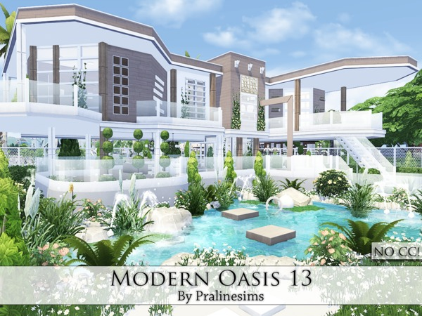 Modern Oasis 13 house by Pralinesims at TSR image 1539 Sims 4 Updates