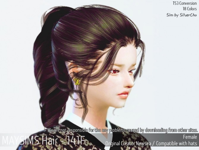 Hair 141F (Fixed) at May Sims image 15510 670x503 Sims 4 Updates