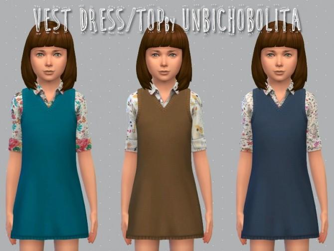 Vest dress at Un bichobolita image 1568 670x503 Sims 4 Updates