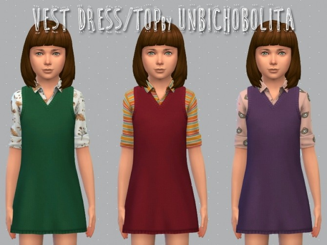 Vest dress at Un bichobolita image 1588 670x503 Sims 4 Updates
