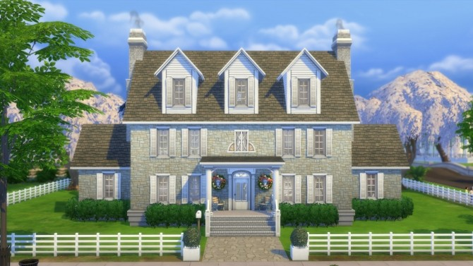 Colonial sanders house by pollycranopolis at mod the sims for Classic house sims 4