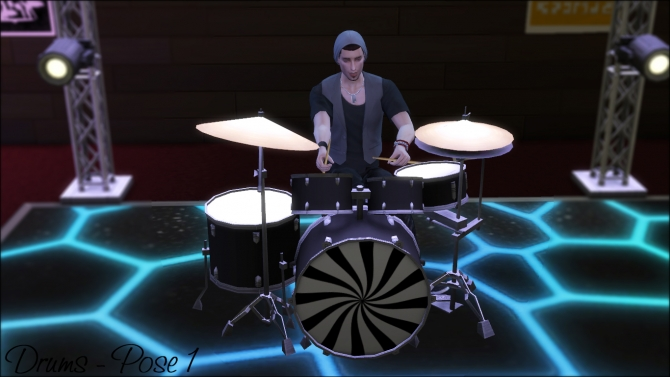 Drums Poses By Dalailama At The Sims Lover 187 Sims 4 Updates