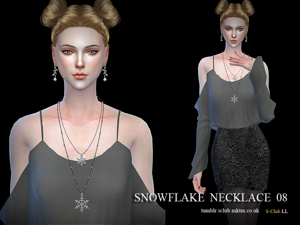 Necklace N08 by S Club LL at TSR image 1620 Sims 4 Updates