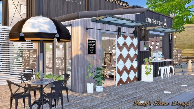 Sims 4 Container Coffee Shop at Ruby's Home Design