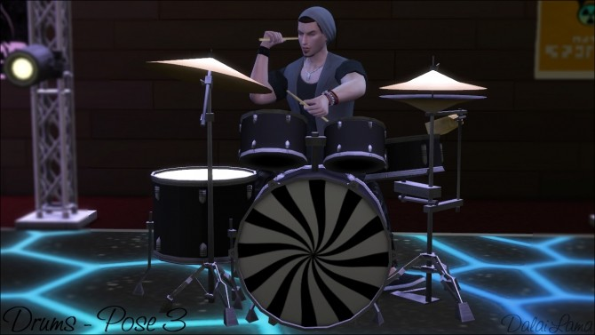 Drums Poses by DalaiLama at The Sims Lover image 1639 670x377 Sims 4 Updates