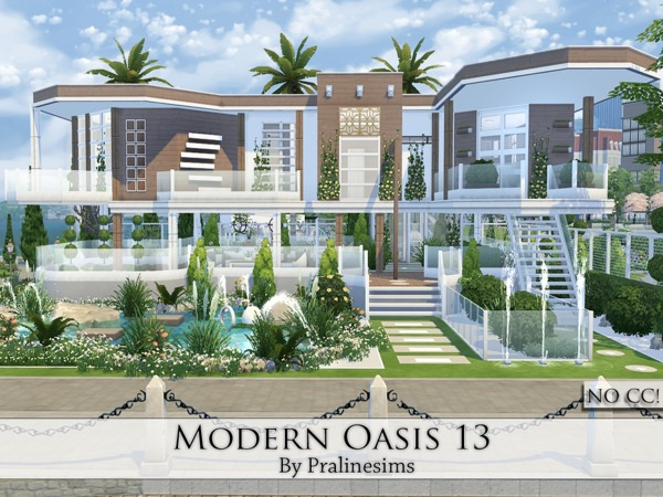 Modern Oasis 13 house by Pralinesims at TSR image 1640 Sims 4 Updates