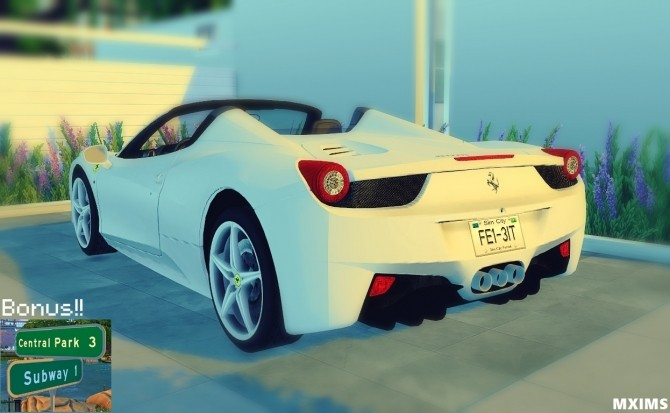Ferrari 458 Spider and NYC Street Signs at Maximss image 1641 670x413 Sims 4 Updates